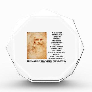 da Vinci Painter Practice Eye Reason Mirror Quote Award