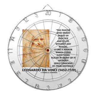 da Vinci Painter Practice Eye Reason Mirror Quote Dartboard With Darts