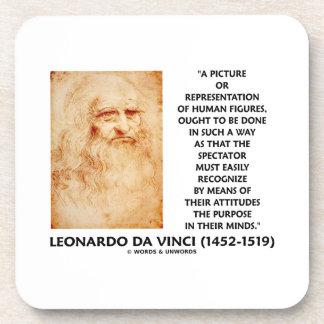 da Vinci Picture Representation Figures Purpose Beverage Coaster