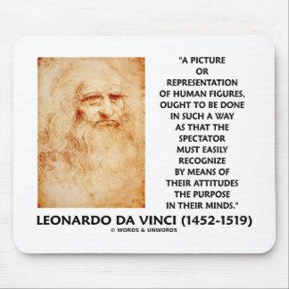 da Vinci Picture Representation Figures Purpose Mouse Pad