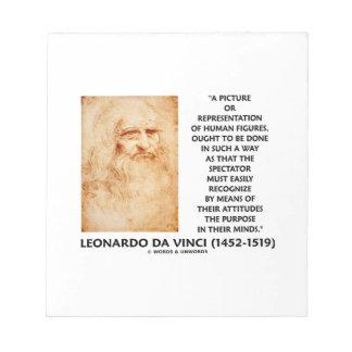 da Vinci Picture Representation Figures Purpose Note Pad