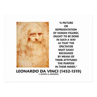 da Vinci Picture Representation Figures Purpose Postcard