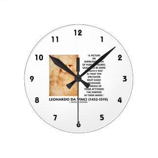 da Vinci Picture Representation Figures Purpose Round Clock