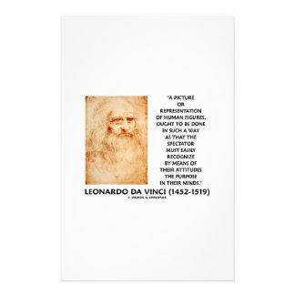 da Vinci Picture Representation Figures Purpose Stationery