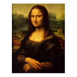 Da Vinci - postal de Mona Lisa
