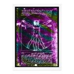 Da Vinci proportion man colorized blacklight Custom Invite