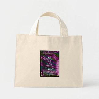 Da Vinci proportion man colorized blacklight Mini Tote Bag
