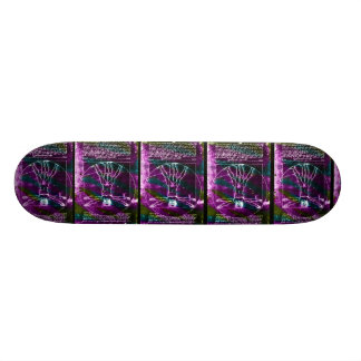 Da Vinci proportion man colorized blacklight Skateboard