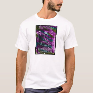 Da Vinci proportion man colorized blacklight T-Shirt