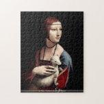 Da Vinci - retrato de una señora con el armiño Puzzle