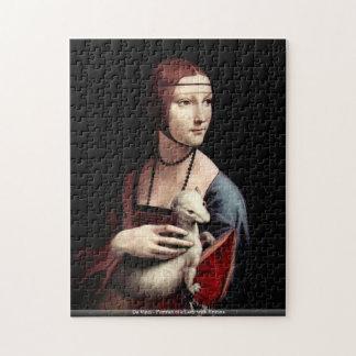 Da Vinci - retrato de una señora con el armiño Rompecabezas