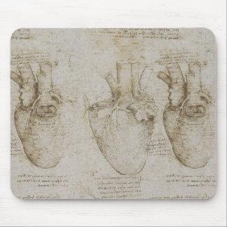 Da Vinci s Human Heart Anatomy Sketches Mouse Pads