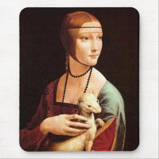 Da Vinci: Señora With The Ermine Mouse Pads