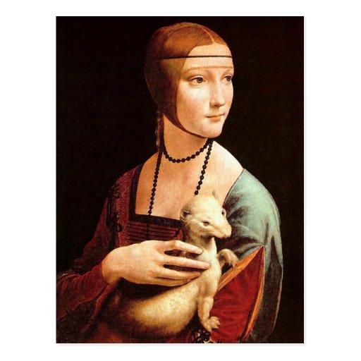 Da Vinci: Señora With The Ermine Postal