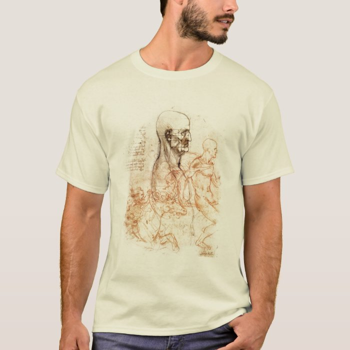 da Vinci Sketch -- Man and Horse T-Shirt