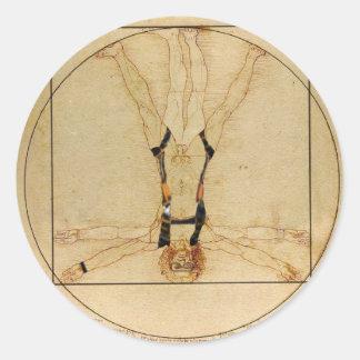da Vinci Skydiving Classic Round Sticker