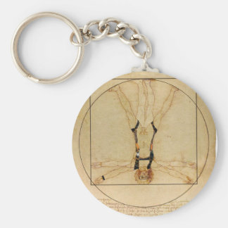da Vinci Skydiving Basic Round Button Keychain