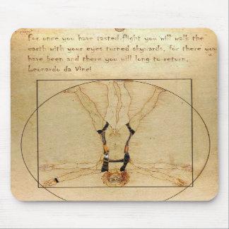 da Vinci Skydiving Mouse Pad