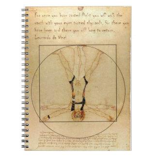 da Vinci Skydiving Spiral Notebook