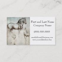Da Vinci Study of a Horse Pencil Drawing Sketch Business Card