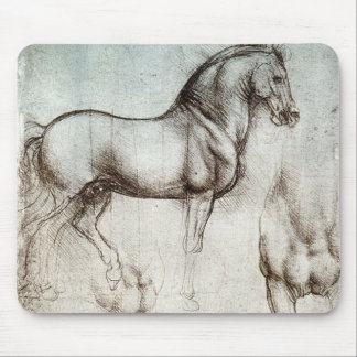 Da Vinci Study of a Horse Pencil Drawing Sketch Mouse Pad