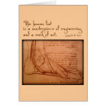 "da Vinci: ""The human foot is..."" Cards"