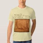 "da Vinci: ""The human foot is..."" T-shirts"