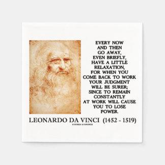 da Vinci tiene un poco juicio del trabajo de la Servilleta Desechable