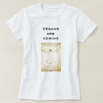 da-vinci- Vegans are genius T-Shirt