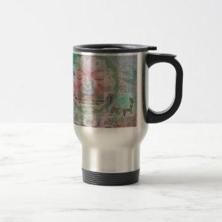 Da Vinci Vegetarian quote 15 Oz Stainless Steel Travel Mug