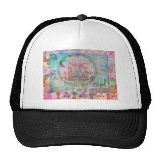 Da Vinci Vegetarian quote Trucker Hat