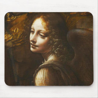 Da Vinci Virgin of the Rocks Angel Mouse Pad