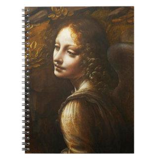 Da Vinci Virgin of the Rocks Angel Notebook