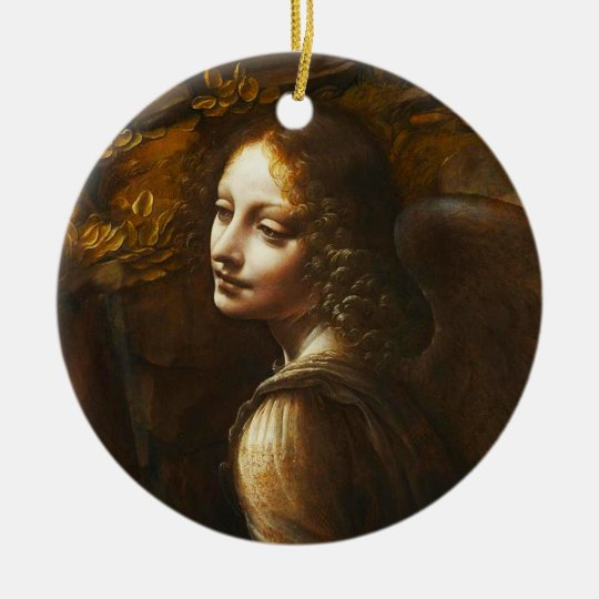 Da Vinci Virgin of the Rocks Angel Ornament