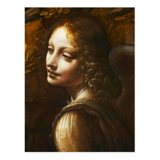 Da Vinci Virgin of the Rocks Angel Postcard
