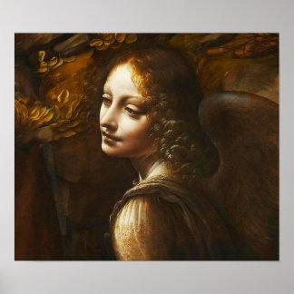 Da Vinci Virgin of the Rocks Angel Poster