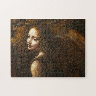 Da Vinci Virgin of the Rocks Angel Puzzle