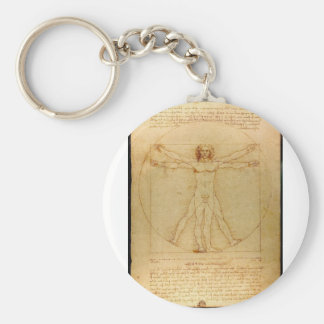 Da Vinci Vitruve Luc Viatour Keychain