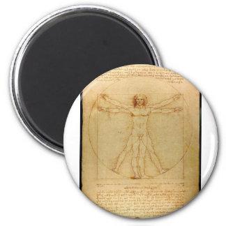 Da Vinci Vitruve Luc Viatour Magnet