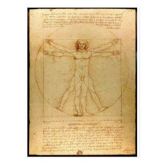 Da Vinci Vitruve Luc Viatour Postcard