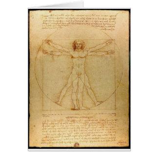 Da Vinci Vitruve Lucas Viatour Tarjeta De Felicitación