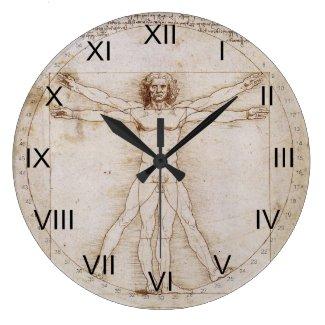 da vinci vitruvian man clock