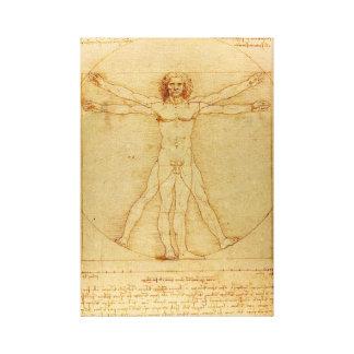 Da Vinci Vitruvian Man Giclee Canvas Stretched Canvas Prints