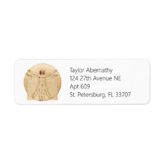 Da Vinci Vitruvian Man Label