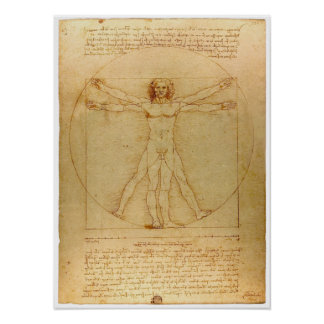 Da Vinci Vitruvian Man Poster