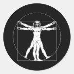 Da Vinci Vitruvian Man Round Sticker