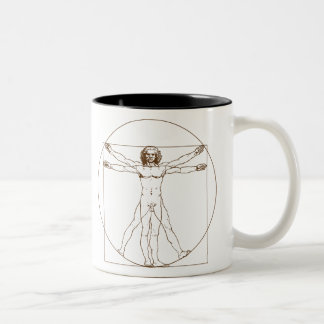 Da Vinci Vitruvian Man Two-Tone Coffee Mug