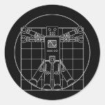 Da Vinci Vitruvian Robot Sticker