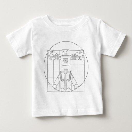 Da Vinci Vitruvian Robot Tshirt