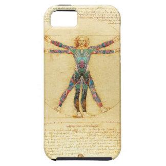 Da Vinci Vitruvian tattooed man iPhone 5/5S Case